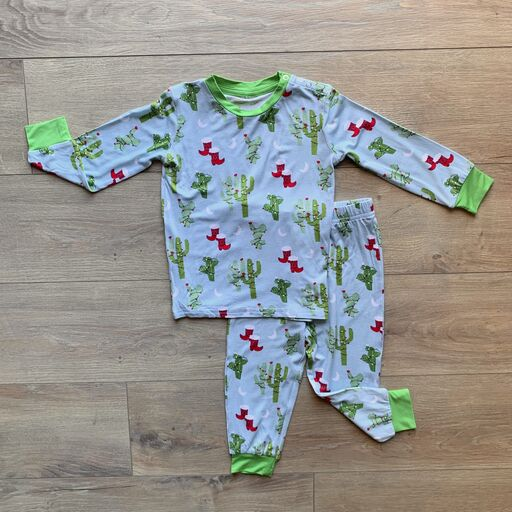 Long Sleeve PJ Set - Christmas Cactus