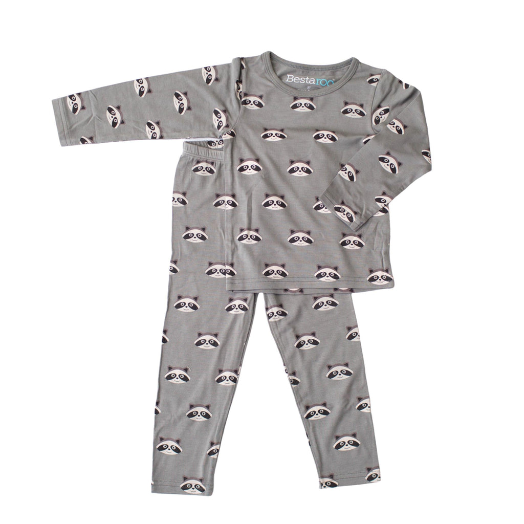 Two Piece Pajama Set - Raccoons