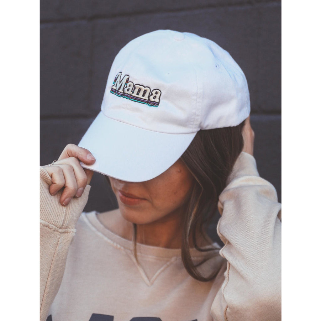 Mama Layered Hat - White