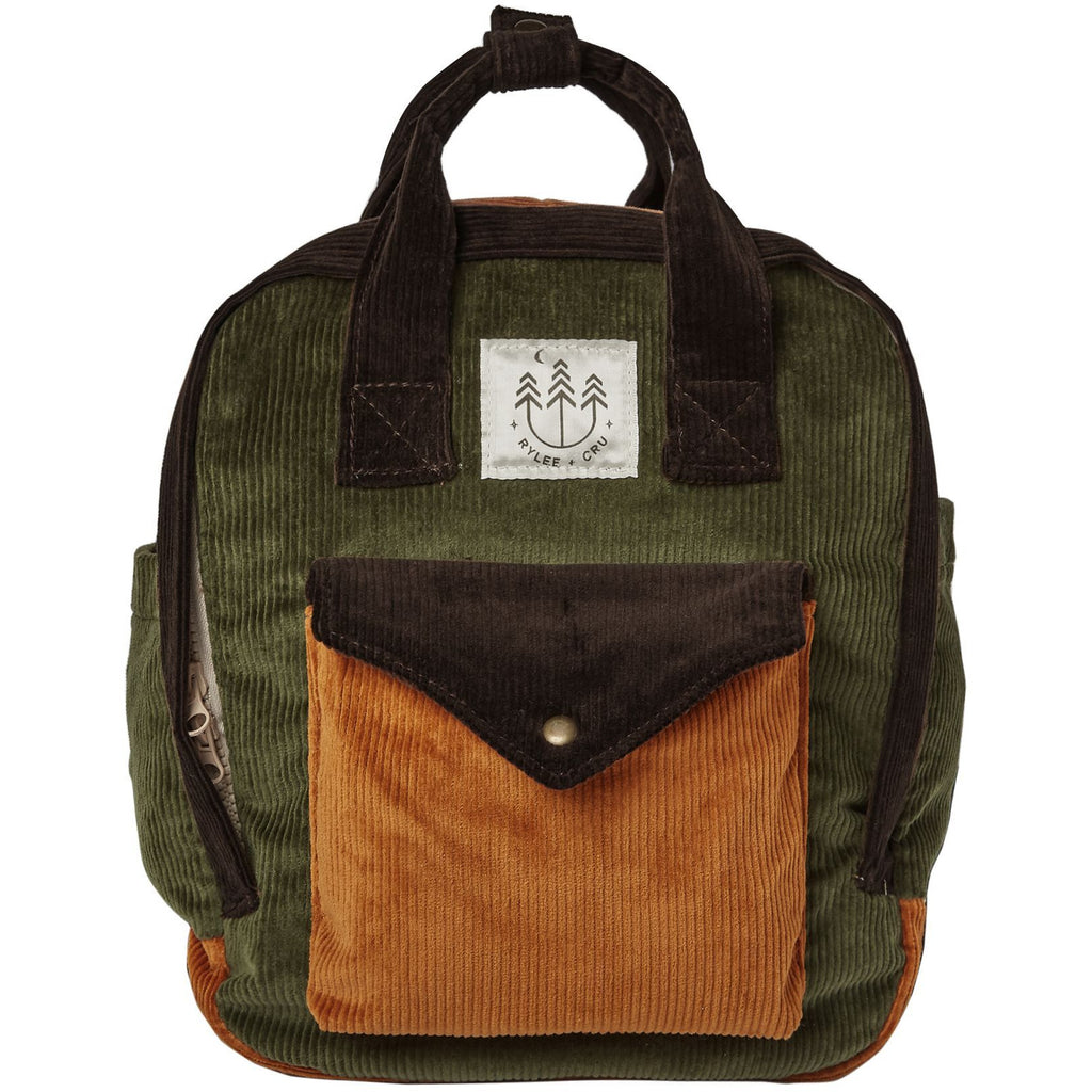 Corduroy Mini Backpack - Forest