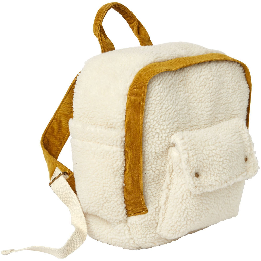 Corduroy Mini Backpack - Natural