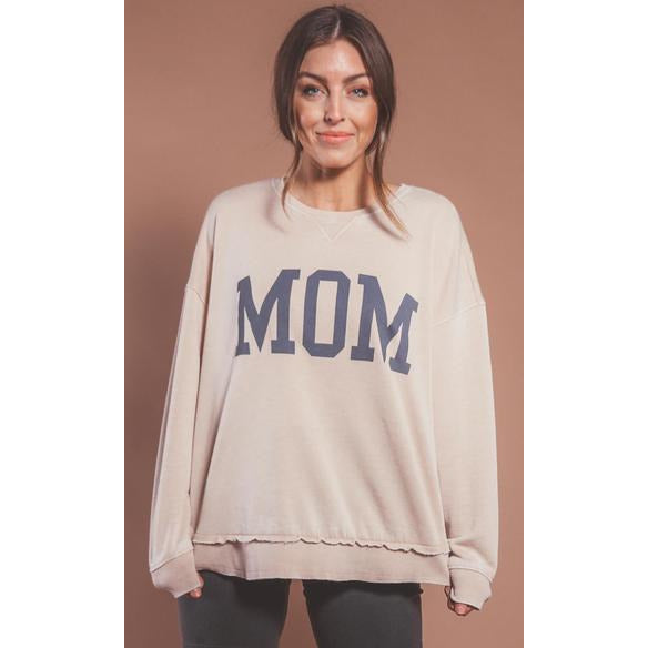 Mom Sweatshirt - Oatmeal