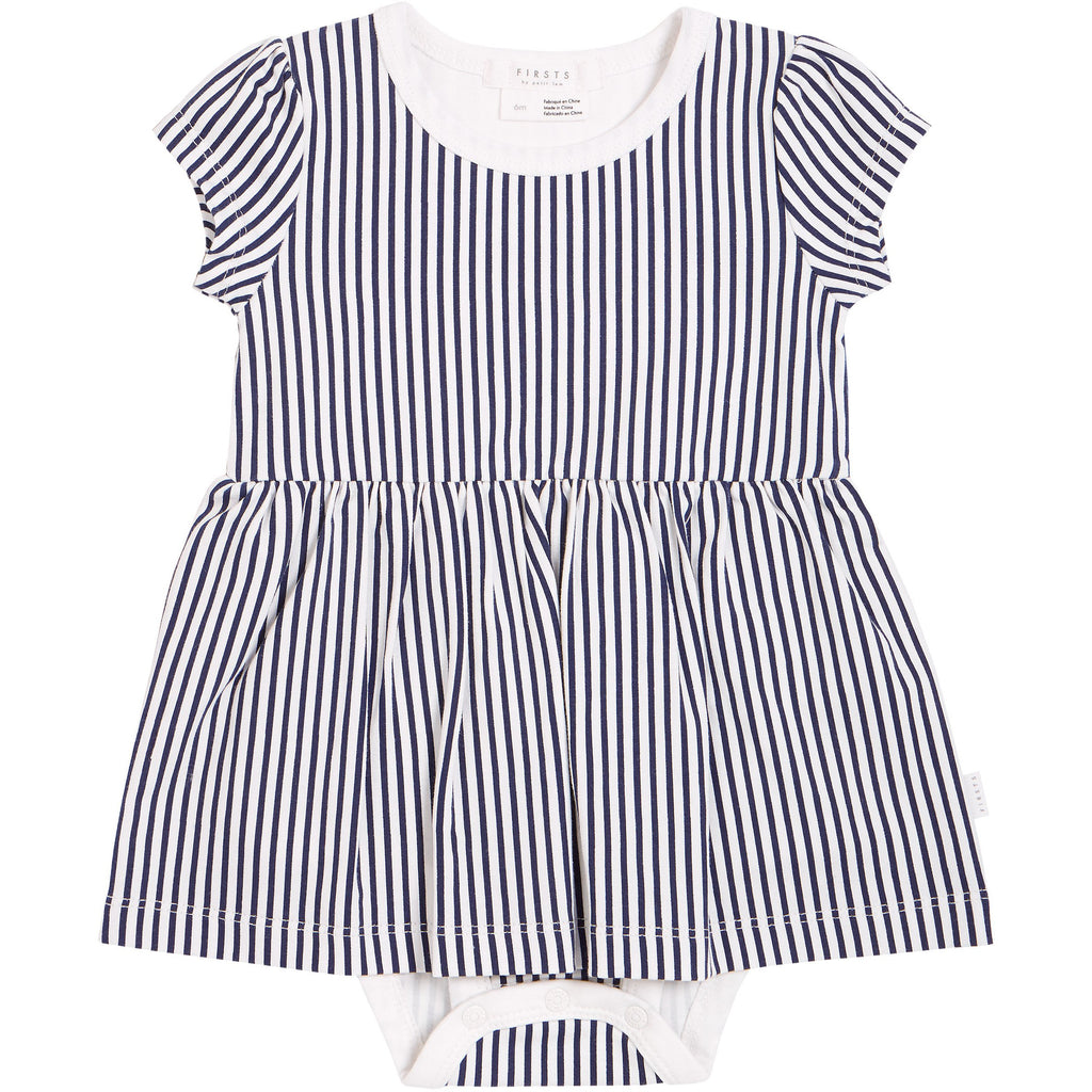 Romper - Navy/White Stripe