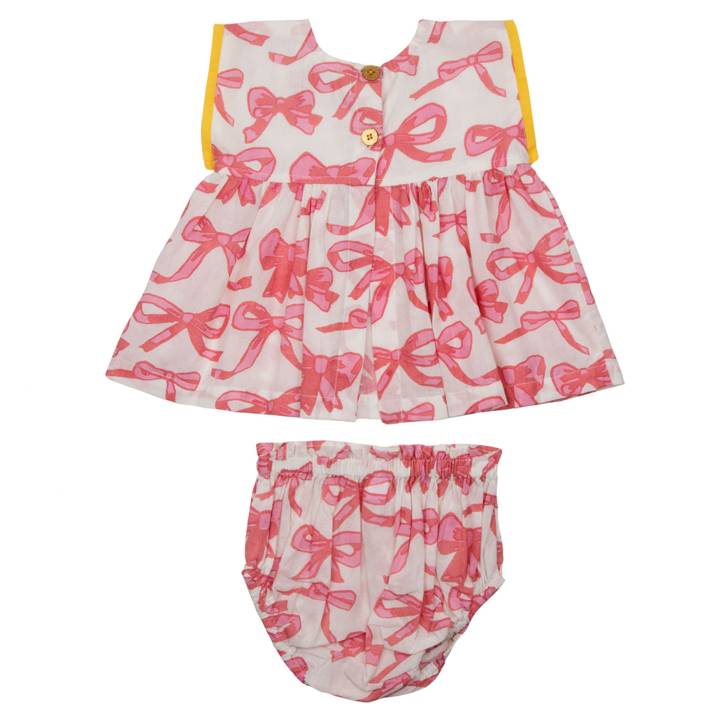 Niley 2 Piece Set - Mauveglow Bows