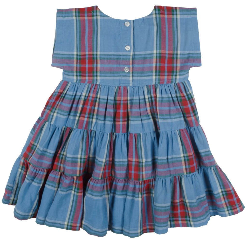 Peachy Dress - Riviera Tartan