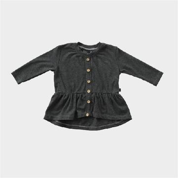 Peplum Top - Graphite Heather