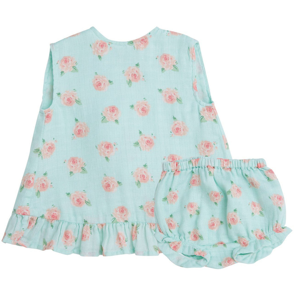 Muslin Ruffle Top and Bloomer - Petite Rose