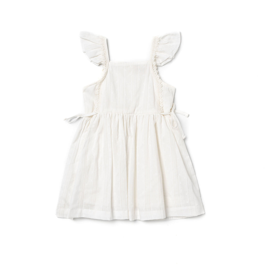 Pinafore Dress - White