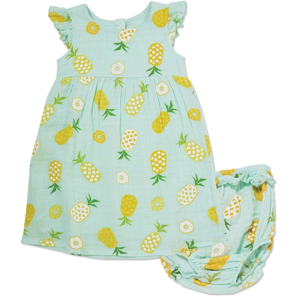 Muslin Dress & Bloomer - Pineapple