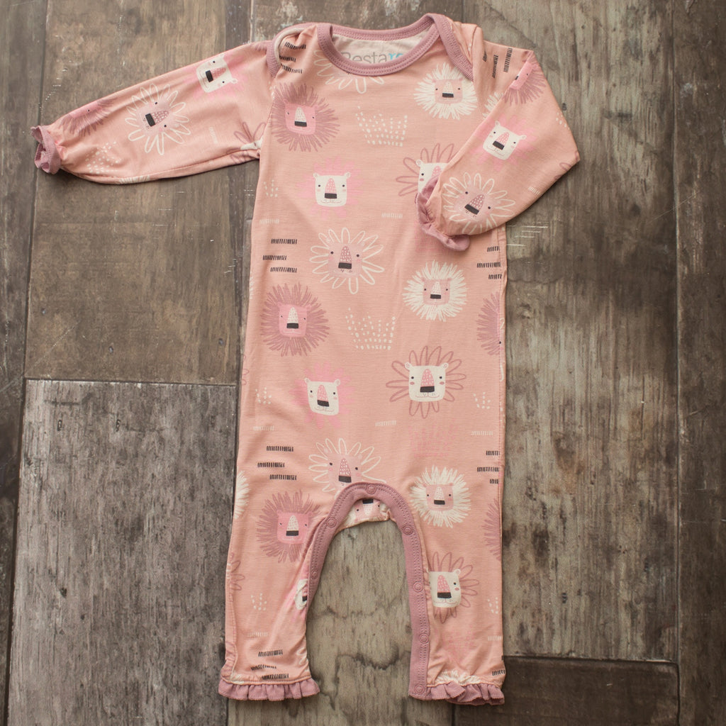 Coveralls - Pink Lion