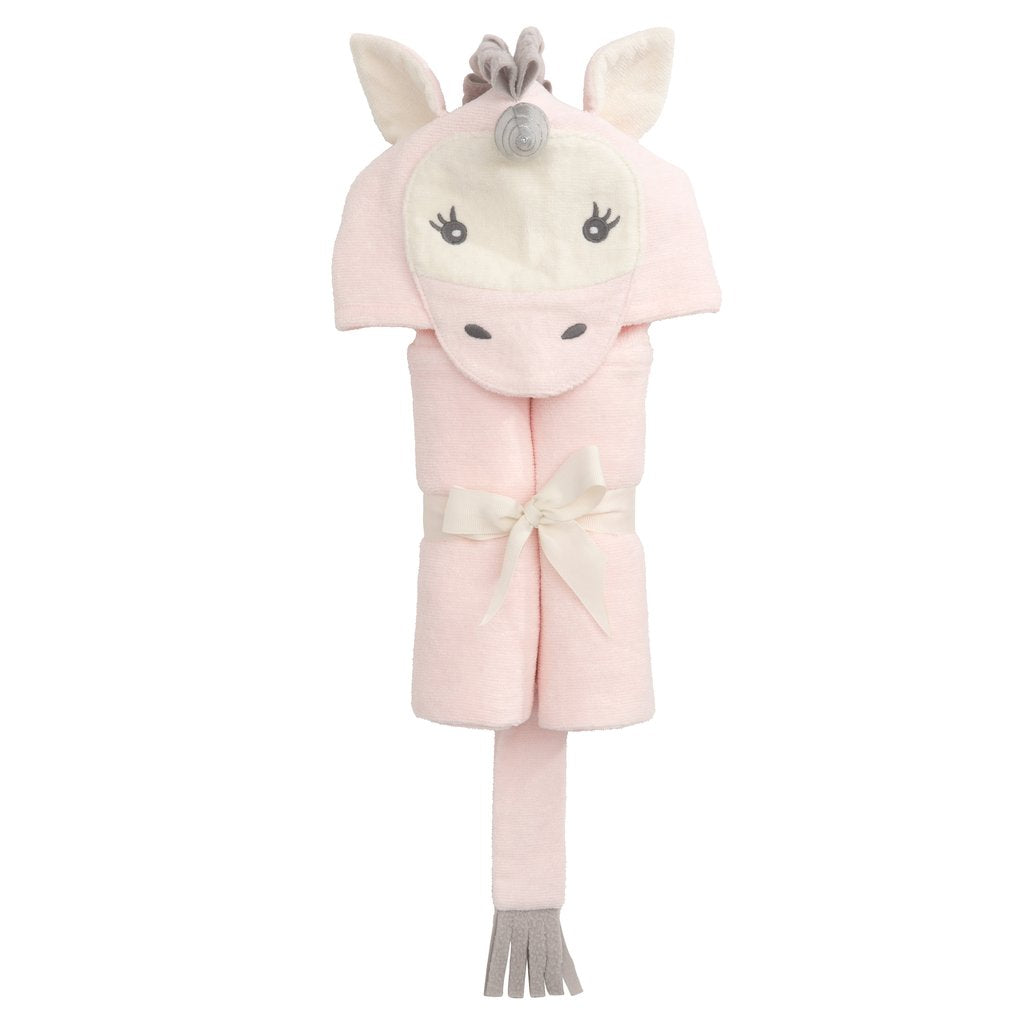 Hooded Bath Wrap - Pink Unicorn