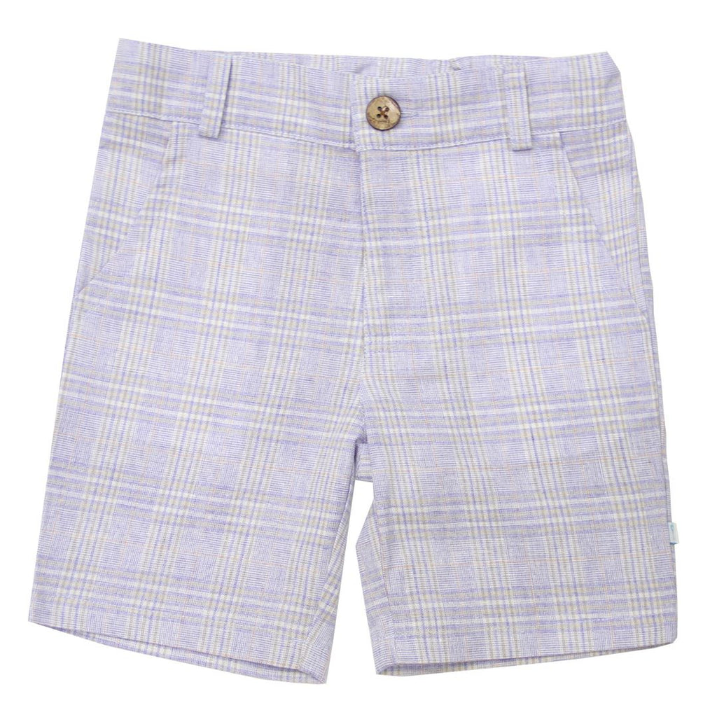 Shorts - Plaid Linen