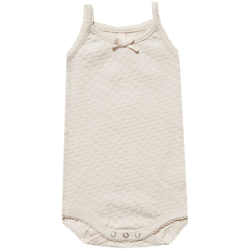 Pointelle Tank Onesie - Natural