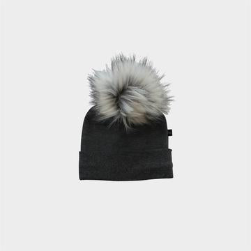 Pom Beanie - Graphite Heather