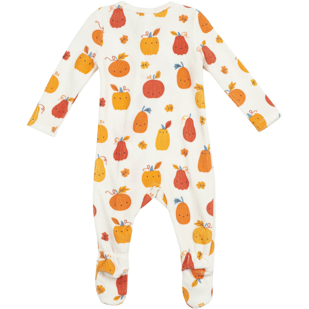 Zipper Footie - Pumpkin Patch