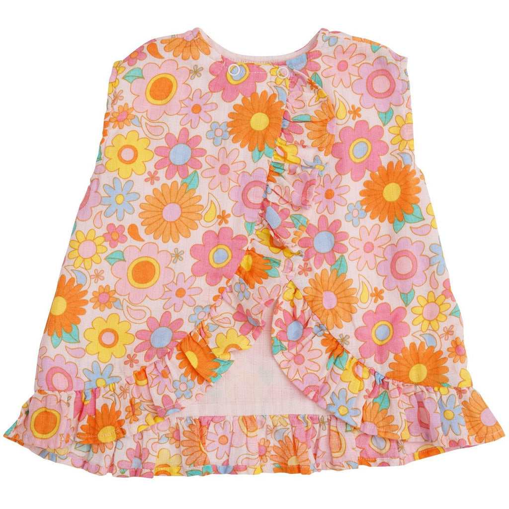 Ruffle Top and Bloomer - Retro Daisy