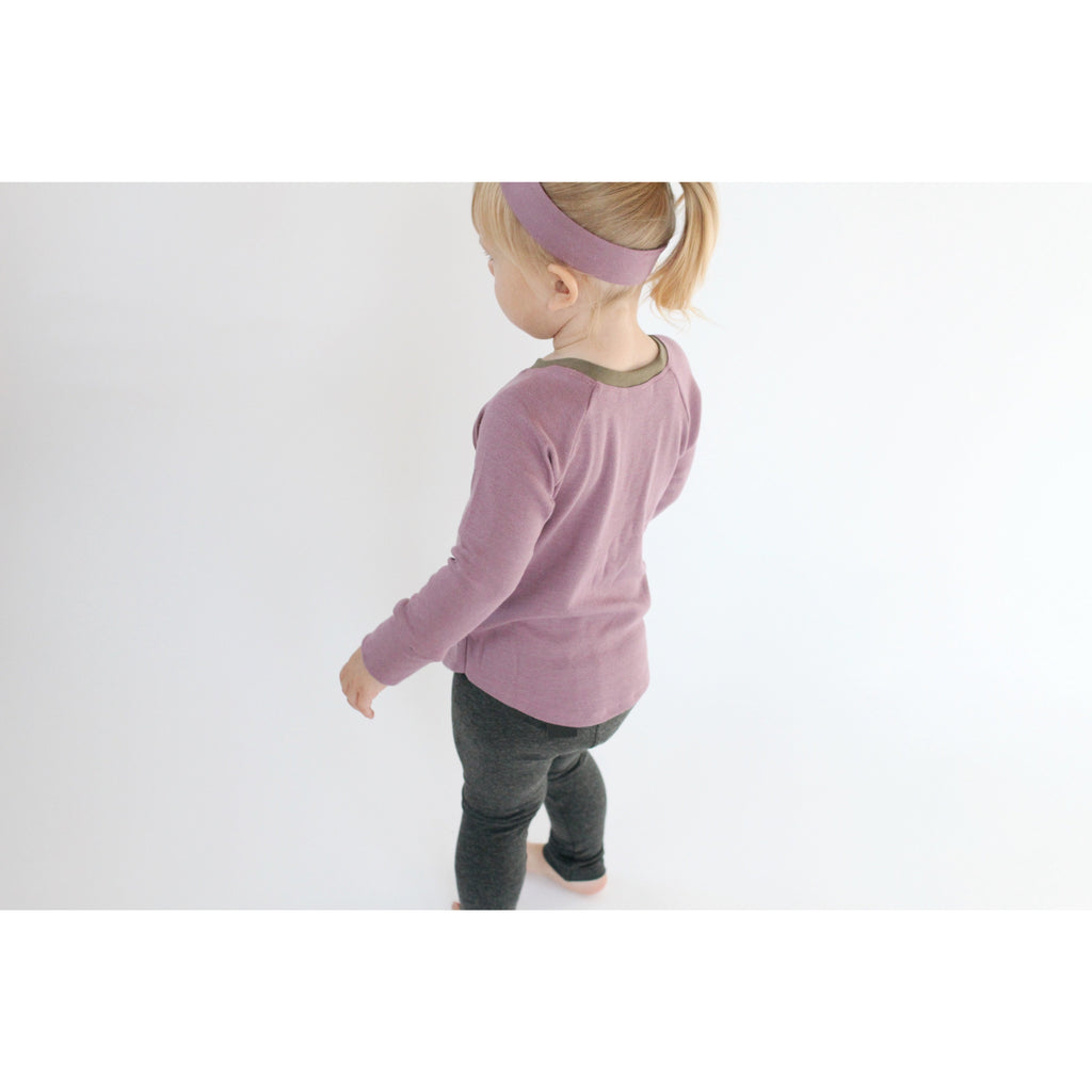 Rib Long Sleeve Top - Ginger