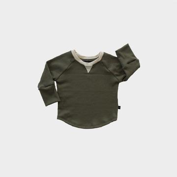 Rib Long Sleeve Top - Olive