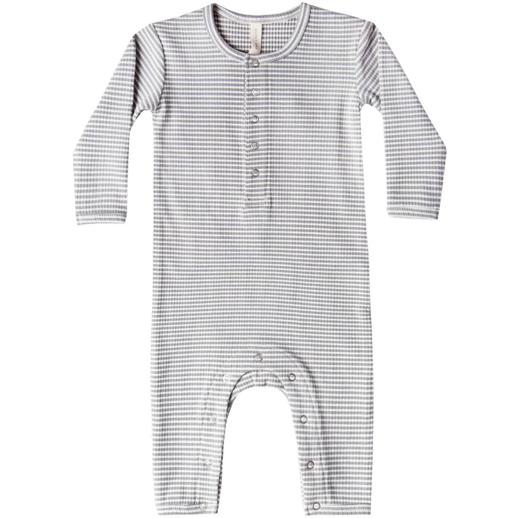 Ribbed Baby Jumpsuit- Eucalyptus Stripe