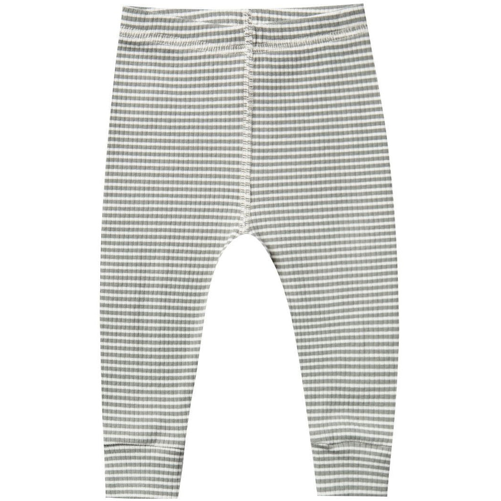 Ribbed Leggings - Eucalyptus Stripe