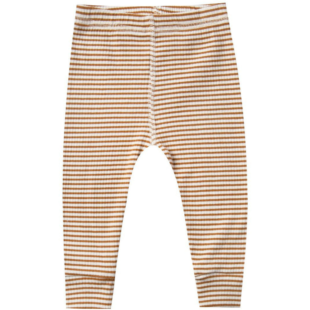 Ribbed Leggings - Walnut Stripe