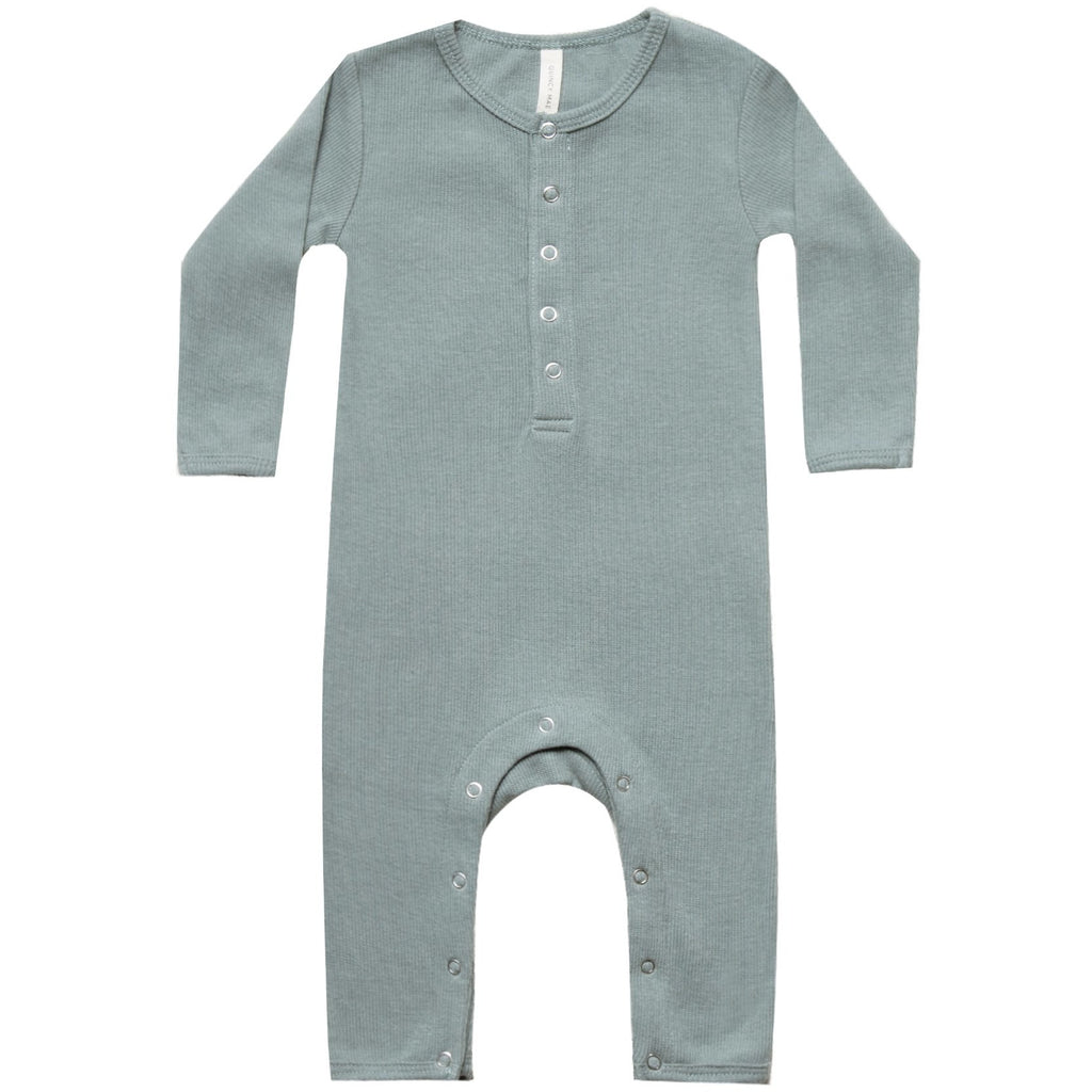 Ribbed Baby Jumpsuit - Sea