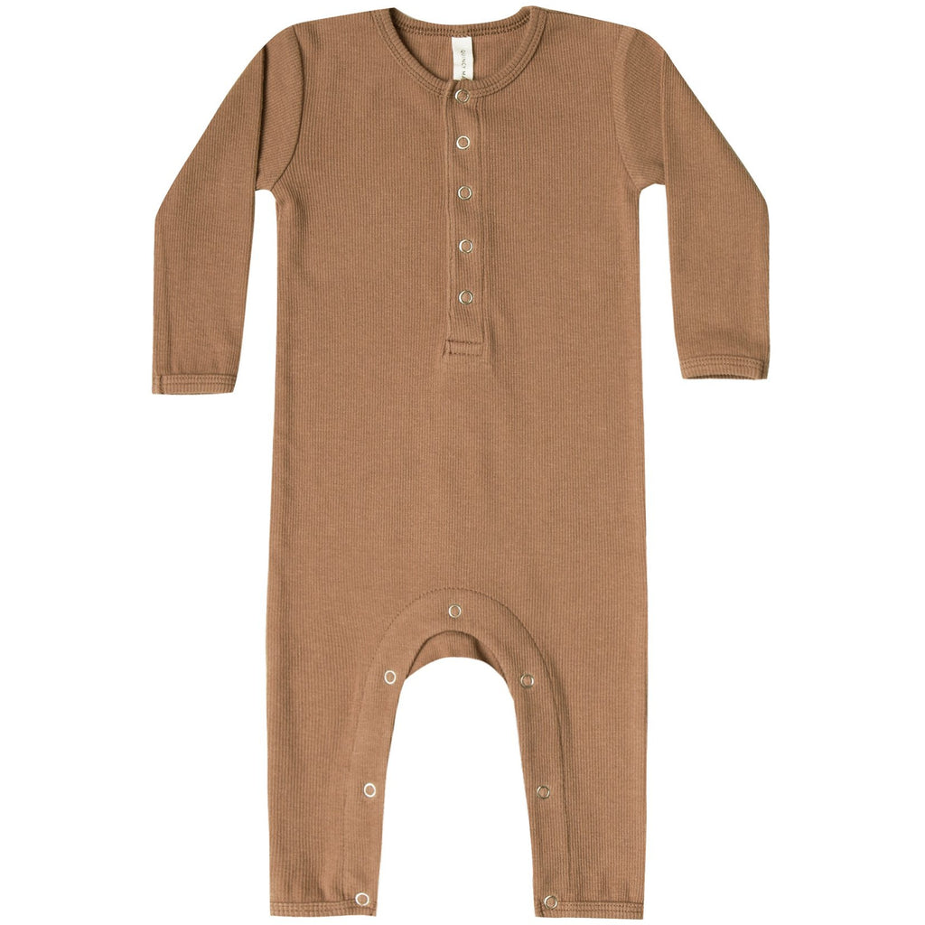 Ribbed Baby Jumpsuit - Copper