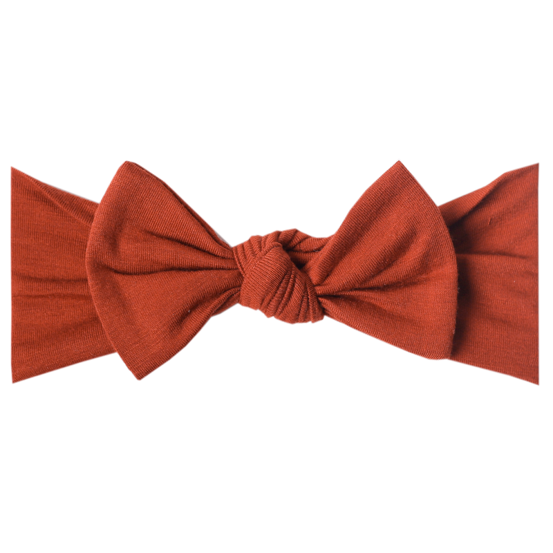 Headband Bow - Rust