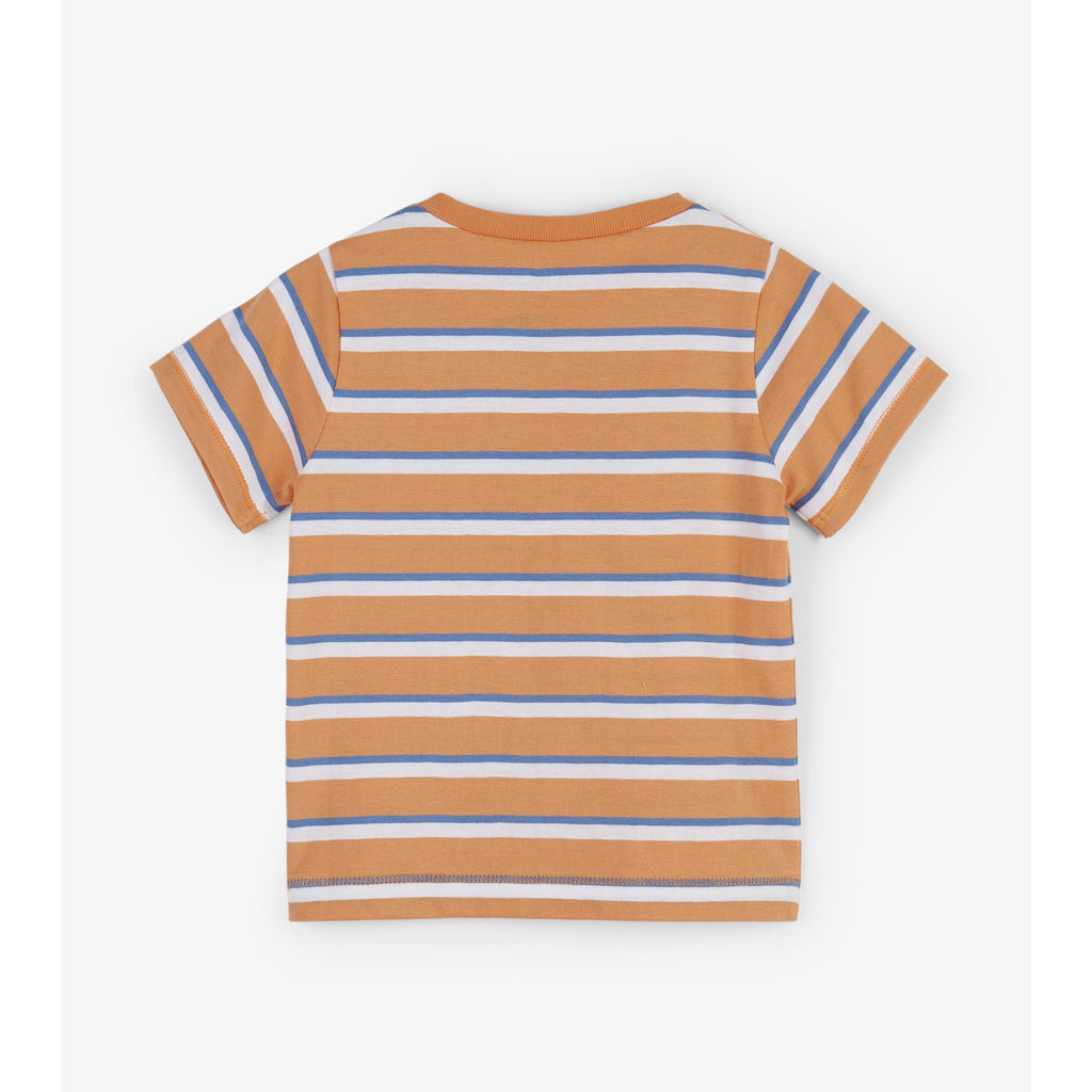 Orange Stripes Baby Tee