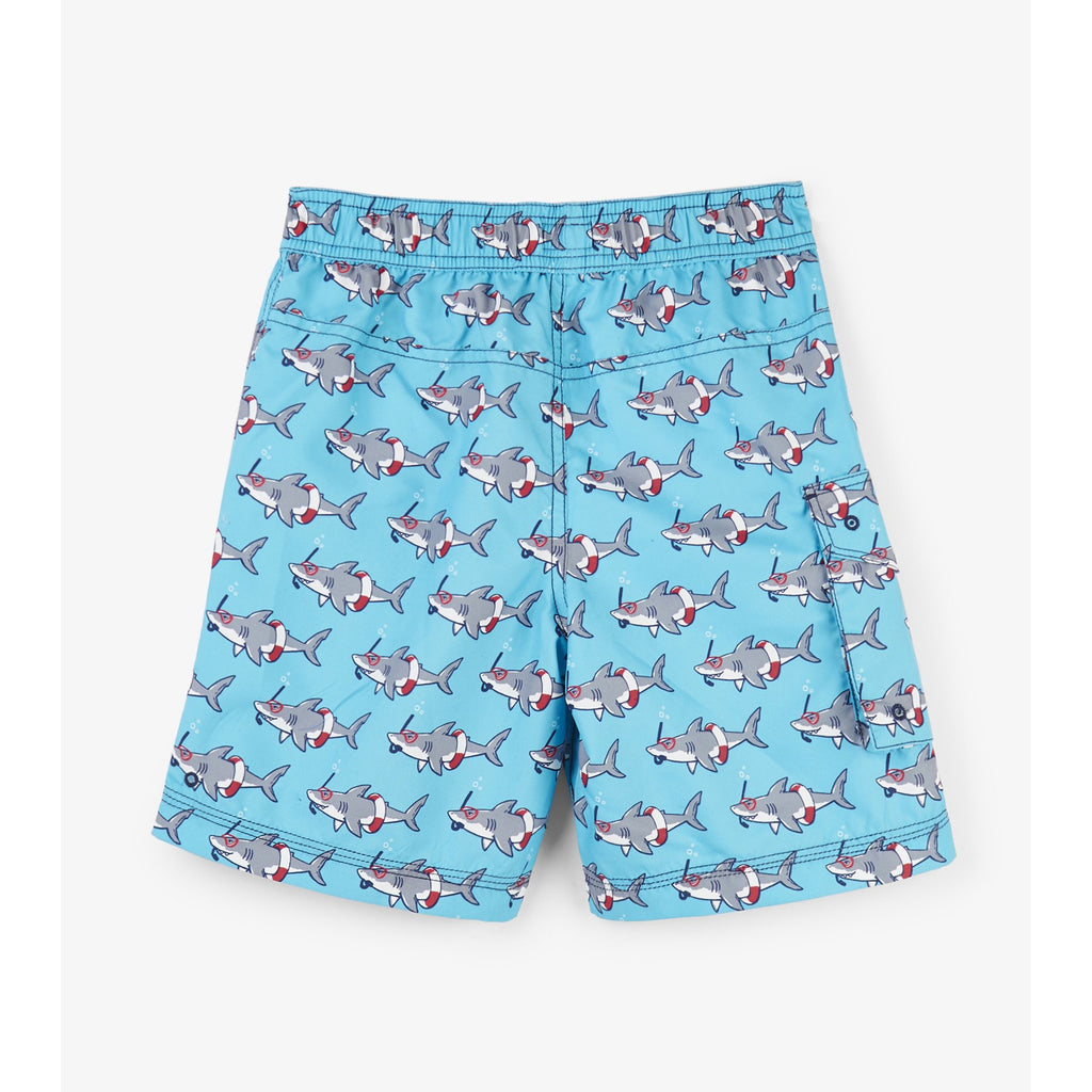 Snorkeling Sharks Board Shorts