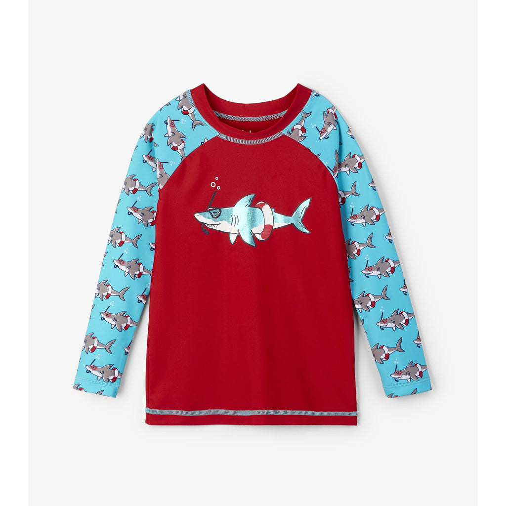 Snorkeling Sharks Long Sleeve Rashguard