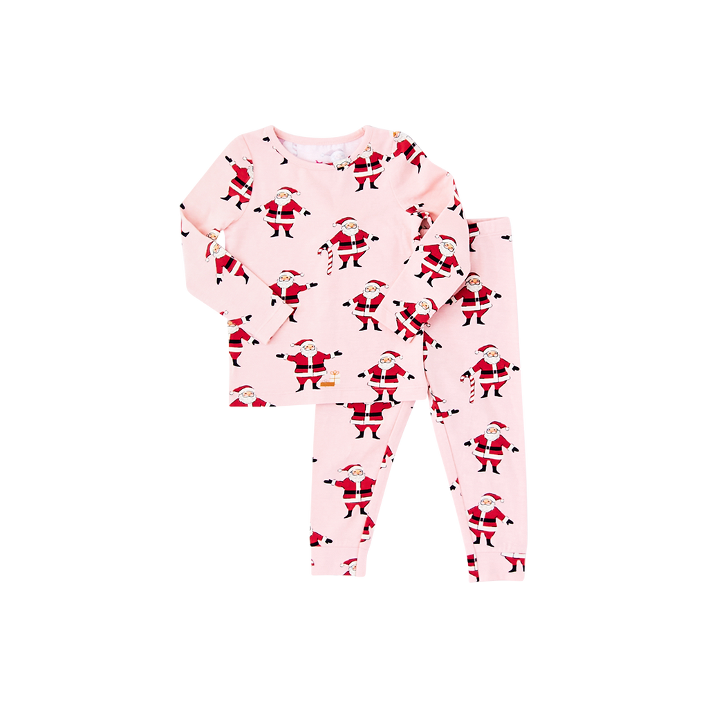 Two Piece PJ Set - Strawberry Cream Santas