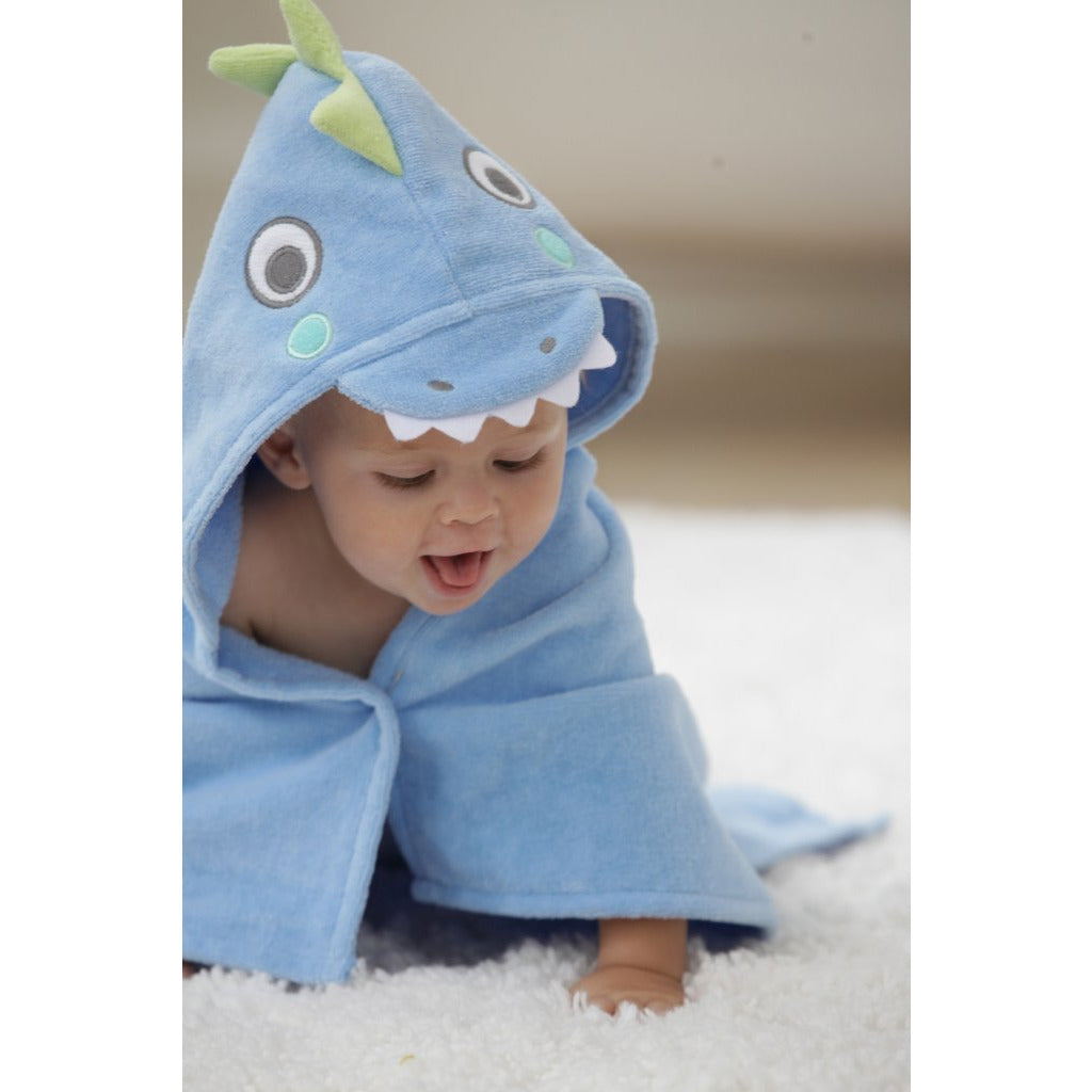 Hooded Bath Wrap - Blue Sea Serpent