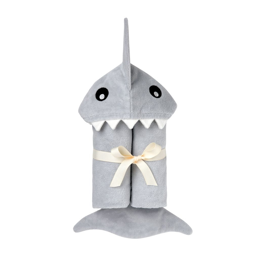 Hooded Bath Wrap - Shark