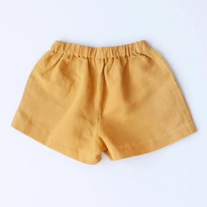 Begonia Button Shorts - Mustard