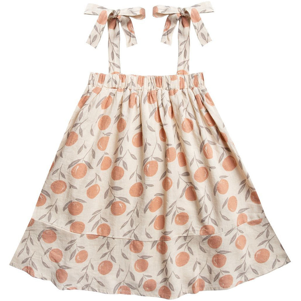 Shoulder Tie Dress - Peaches