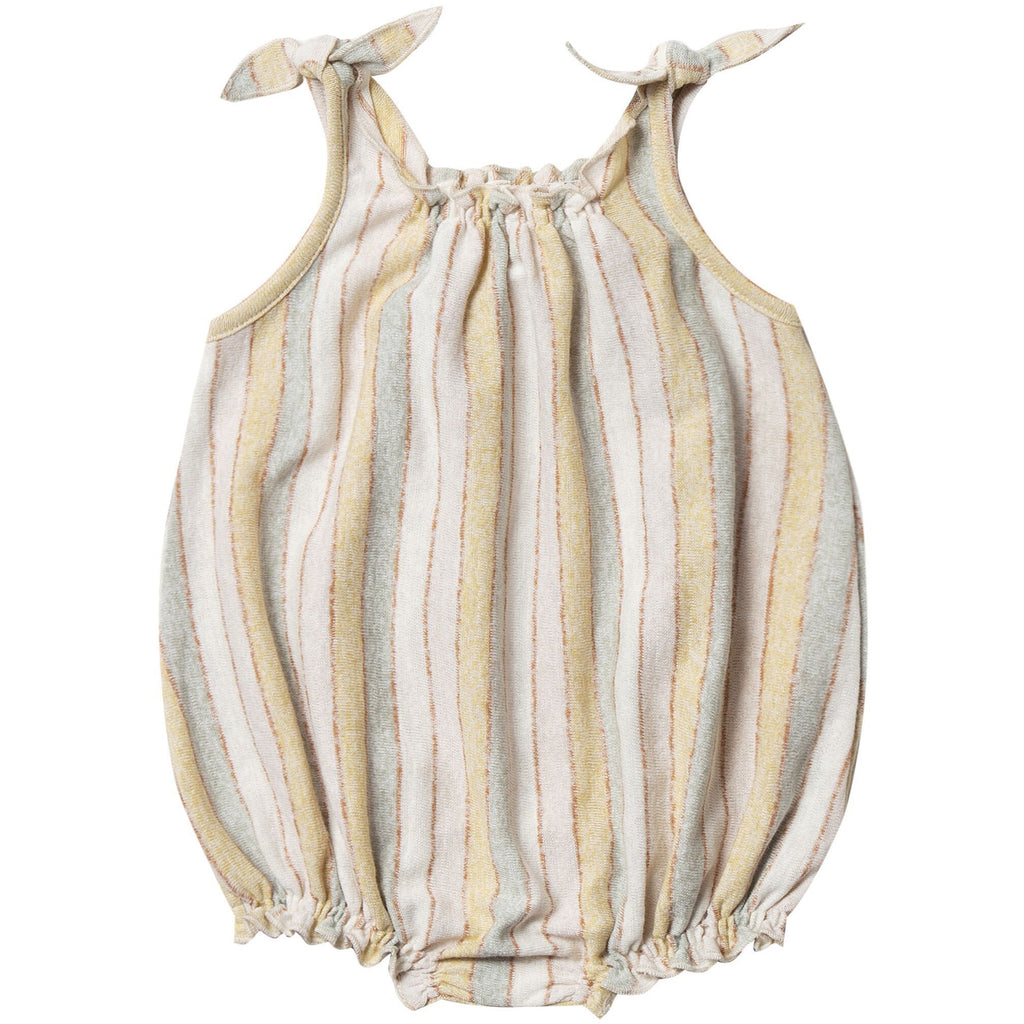 Shoulder Tie Onesie - Carnival Stripe