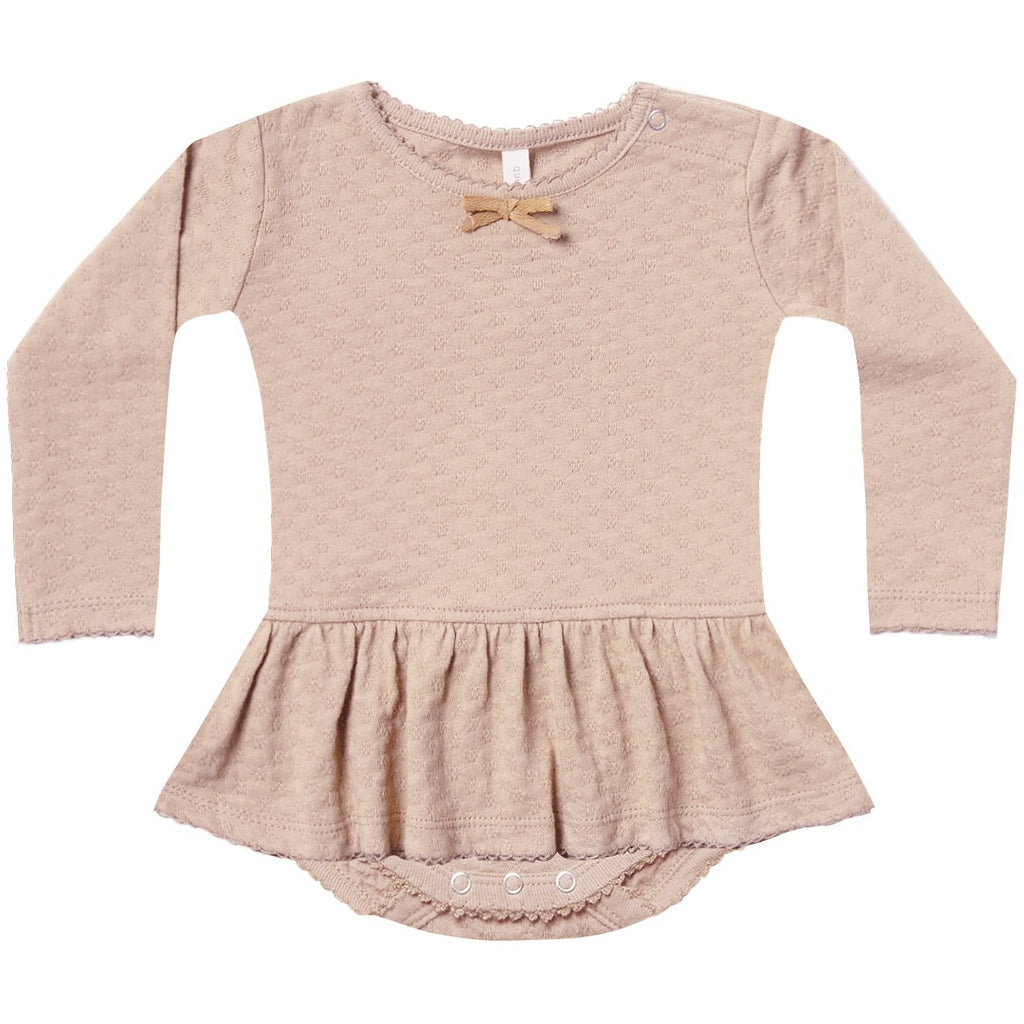 Pointelle Skirted Onesie - Rose