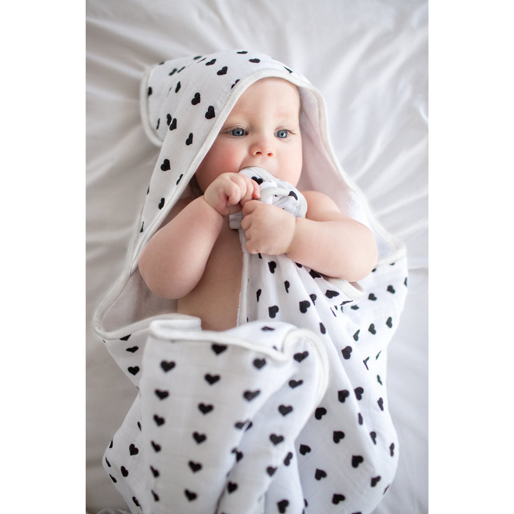 Muslin Hooded Towel - Smitten