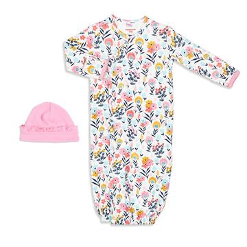 Organic Cotton Magnetic Gown Set - Sussex Floral
