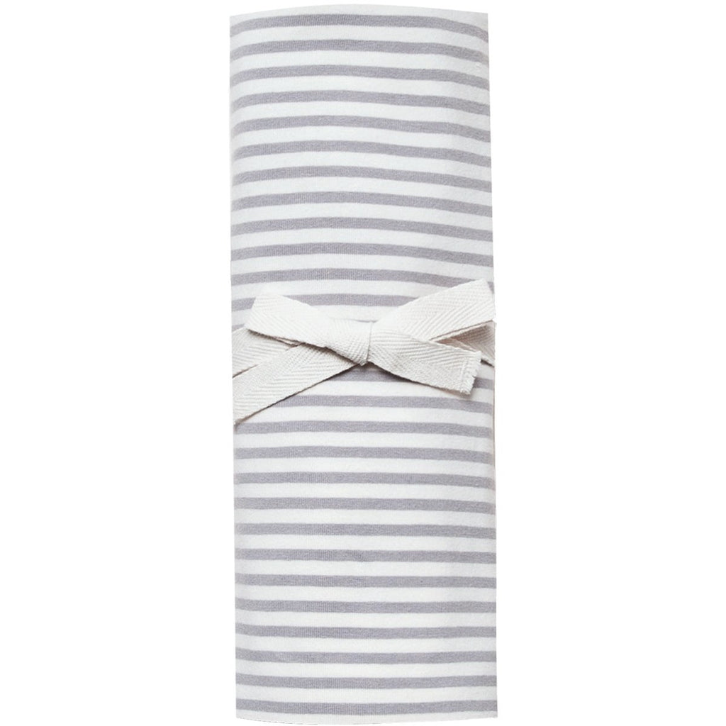 Organic Brush Cotton Swaddle - Grey Stripe
