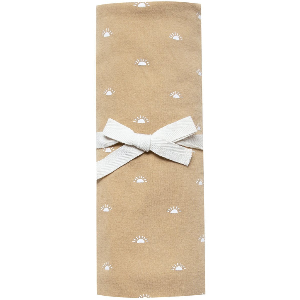 Organic Brush Cotton Swaddle - Honey