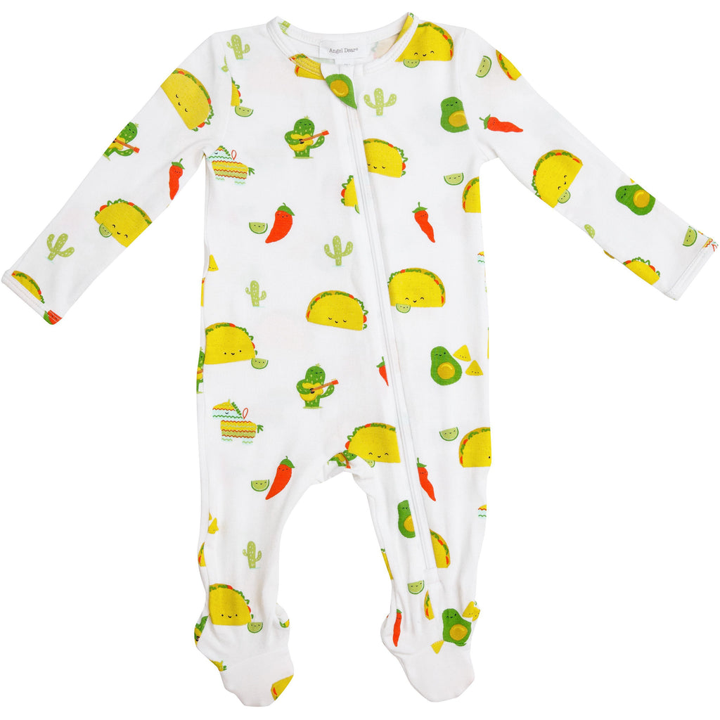 Zipper Footie - Taco Party