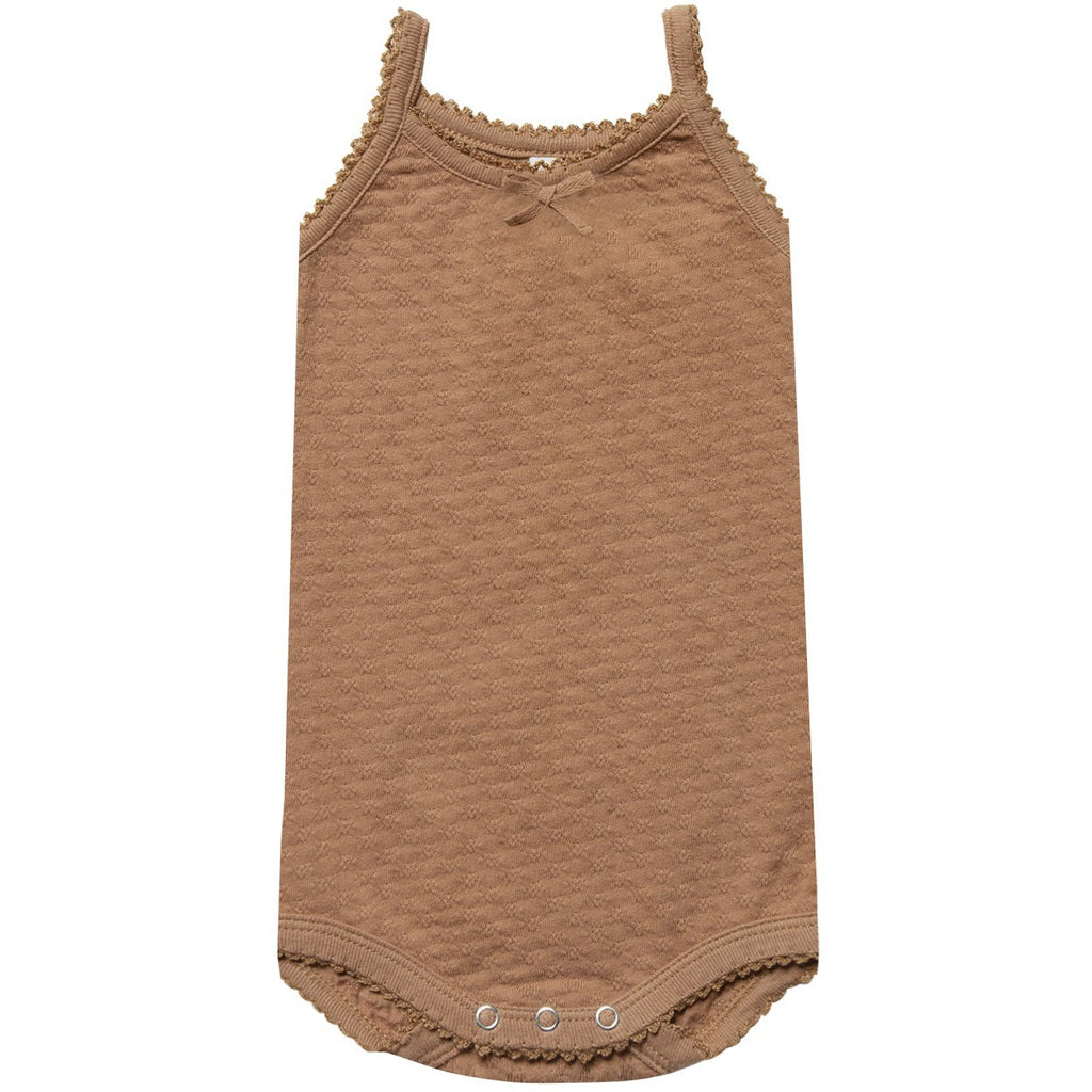Pointelle Tank Onesie - Copper