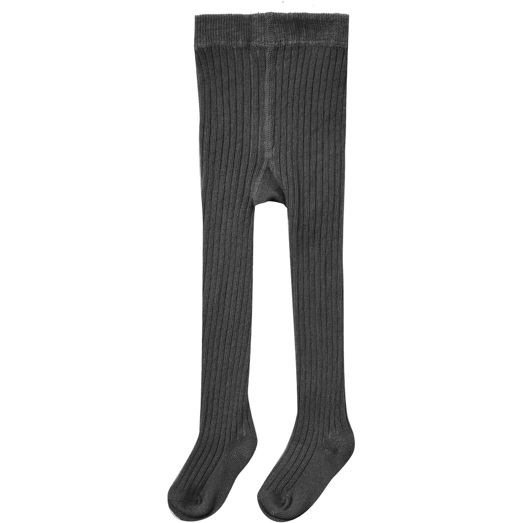 Rib Knit Tights - Vintage Black