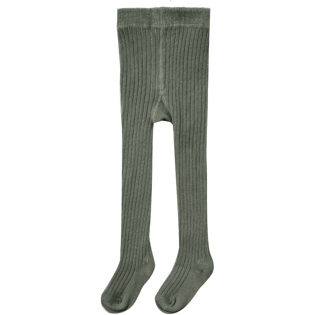 Rib Knit Tights - Forest