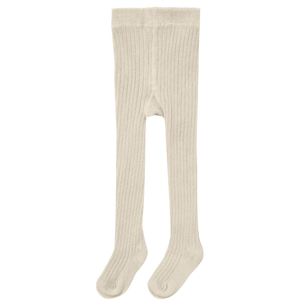 Rib Knit Tights - Natural