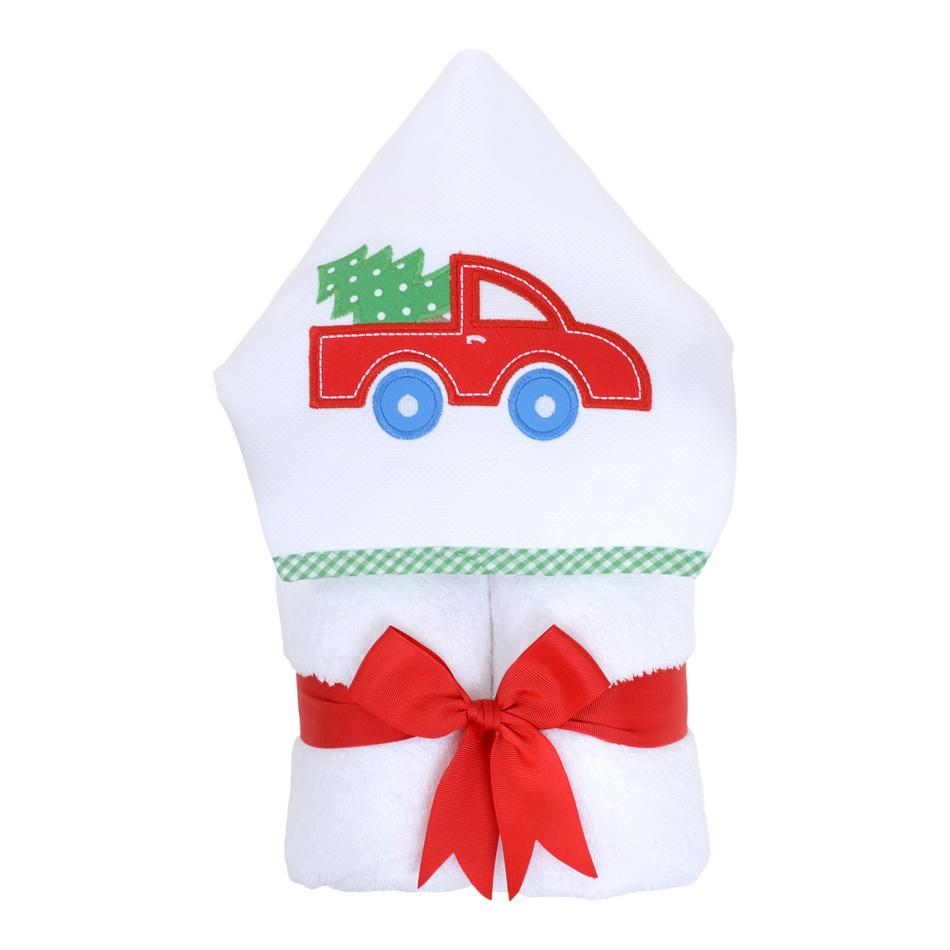 Everykid Towel - Red Christmas Truck