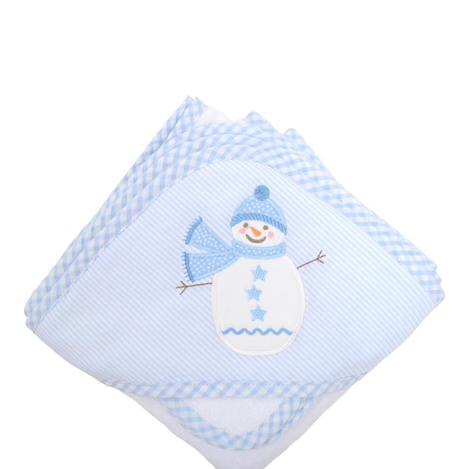 Towel/Washcloth Set - Blue Snowman