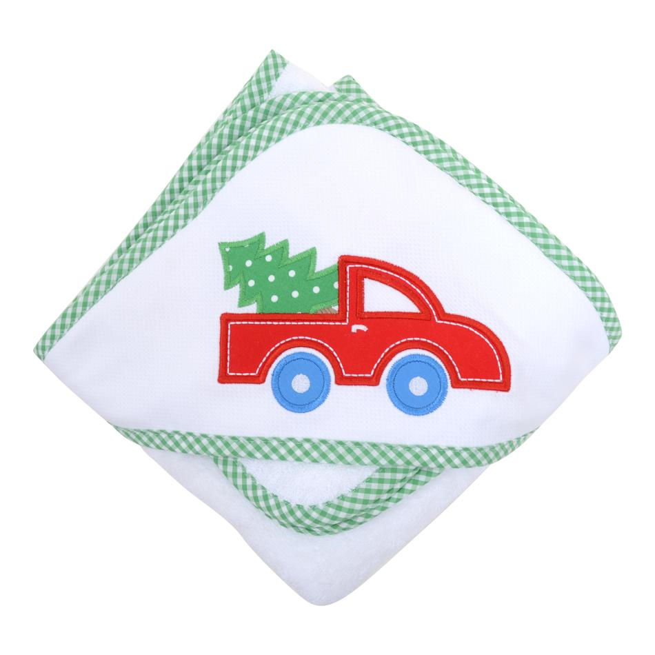 Towel/Washcloth Set - Red Christmas Truck